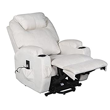 Excellent Cavendish Electric Recliner Chair With Heat Massage Choice Of Colours Cream Cjindustries Chair Design For Home Cjindustriesco