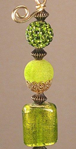 Amazon.com: Verde lampwork vidrio y reflectante verde Faux ...