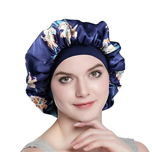Breathable Head Wrap Silk Satin Night Cap Short Hair Women's Tam Hat Beanie Cap