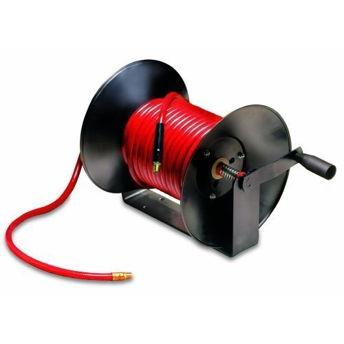 Legacy Manufacturing L8652 Workforce Series Manual Air Hose Reel with 3/8'' ID x 100' Hose by Legacy by Legacy (Image #1)
