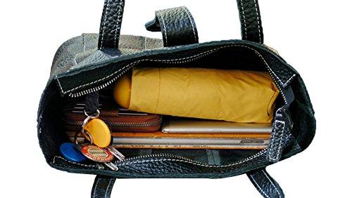 Genda 2Archer Sacchetto di Tote Della Spalla del Pelle Vera Della Grande Tote Della Donna Borsa iPad (32cm*12cm*29cm)