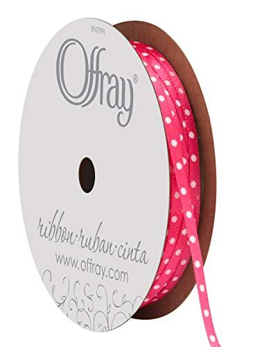 (Offray Double Face Satin Mini Dot Craft Ribbon)