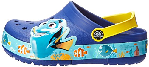 b0cfdafd1b570 Crocs Kids' Finding Dory Light-Up Clog, Cerulean Blue/Lemon, 11 M US ...