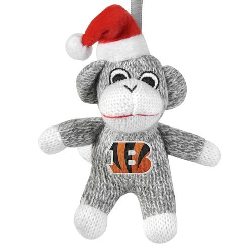 Bengals Sock Monkey Ornament