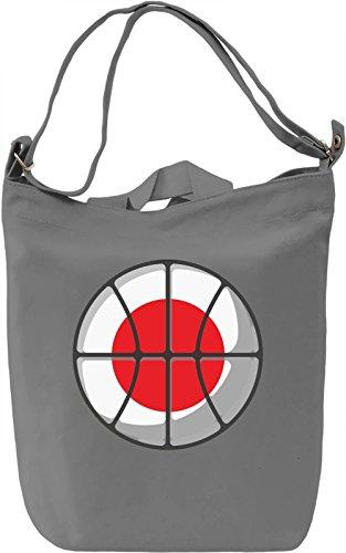 Japan Basketball Borsa Giornaliera Canvas Canvas Day Bag| 100% Premium Cotton Canvas| DTG Printing|