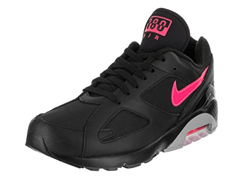 Nike Men's Air Max 180 Black/Pink Blast/Wolf Grey Running Shoe 10.5 Men US