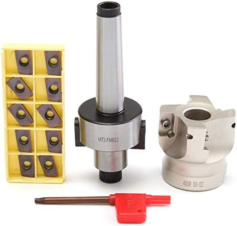 Frässchneideinrichtung MT2 M10 Stirnseite 50Mm + 10Pcs Carbide Insert APMT1604 CNC fräsen Fräser Insert Kit Machine Tool Set