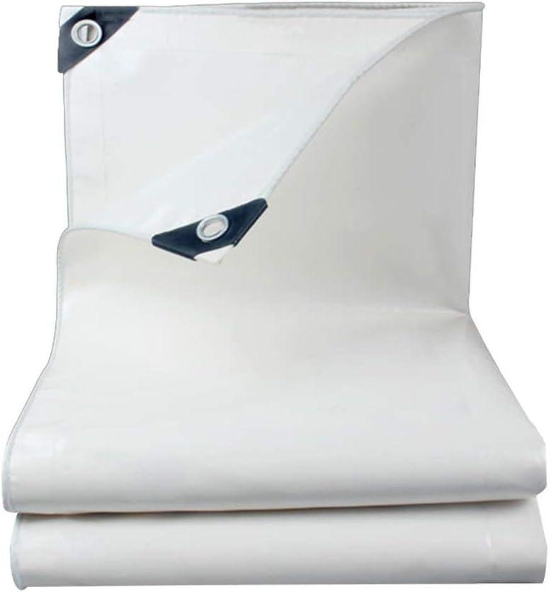 Juexianggou 屋外テント防水シート屋外防水防水シートテント布両面防湿カーゴダスト布高温アンチエイジング 防水テントタープ 白 5x7M