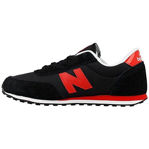 New Balance Zapatilla Jr U410 Negro-Rojo Talla 3 USA Negro-Rojo