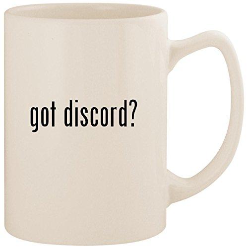 - got discord? - White 14oz Ceramic Statesman Coffee Mug Cup