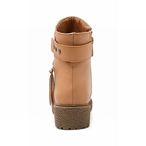 Vrijetijdsbesteding Damesslippers Comfort Casual Eenvoudige Mode Lage Hak Korte Laarzen Abrikoos