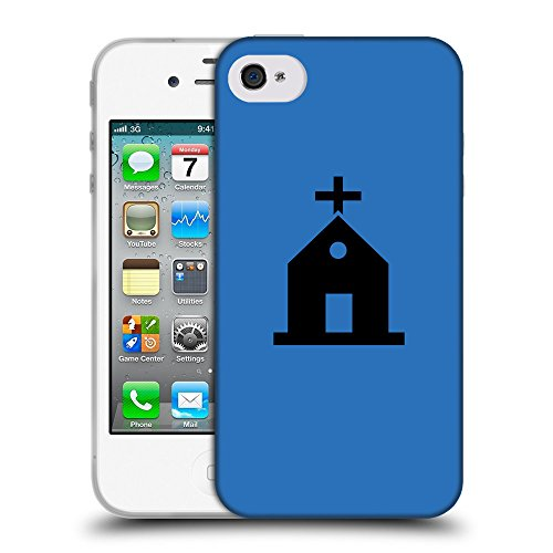GoGoMobile Coque de Protection TPU Silicone Case pour // Q08460608 Religion 10 Azur // Apple iPhone 4 4S 4G