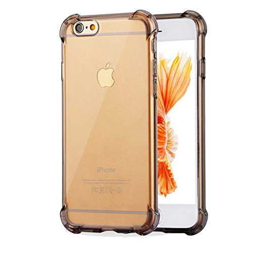 Impact Resistant clear Cover iPhone 6 6s Card Case,ibarbe Protective Shell Shockproof Heavy Duty TPU Bumper Case Anti-scratches EXTREME Protection Cover Heavy Duty Case for iPhone 6 6S - 6 Neon Case Plus Orange Iphone