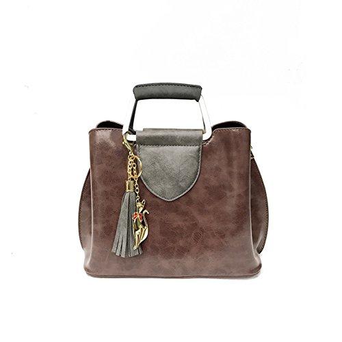 Shoulder Bag Bags Package red Tassel handle Women's Hit Colored Shoulder Purple Top Wild vwqnxaF