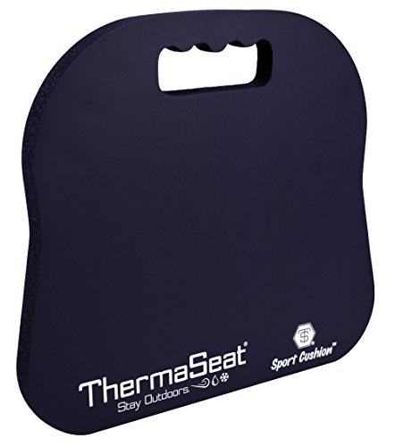 (Northeast Products Therm-A-SEAT Sport Cushion Stadium Seat Pad, Navy Blue)