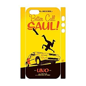 Qxhu Better Call Saul patterns Durable Rubber Silicon Case Cover for Iphone5,5S 3D case