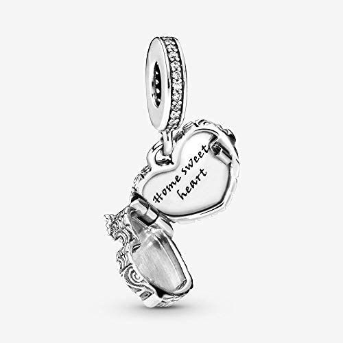 Amazon Com Pandora 798284cz Home Sweet Heart Dangle Charm 798284cz Jewelry