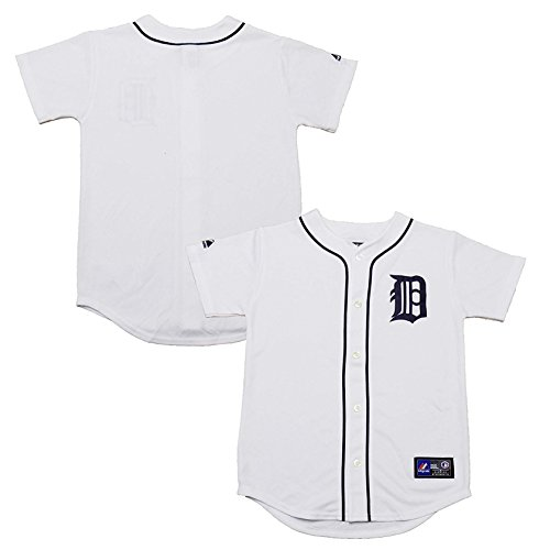 Detroit Tigers Word Mark Blank White Infants Toddler Authentic Home Jersey (Toddler 4T)