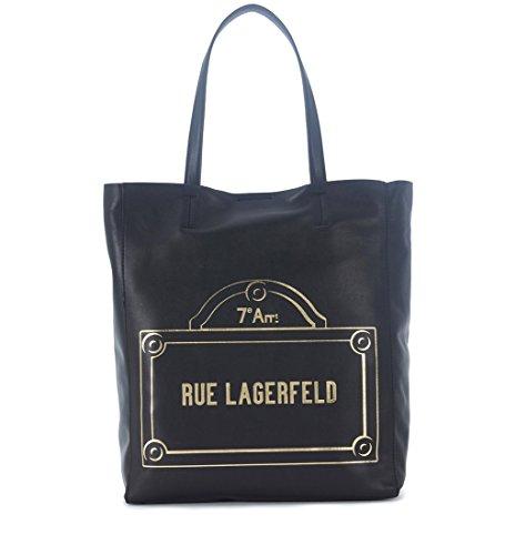Shopper Model Rue Lagerfeld Karl Lagerfeld Schwarz Leder aus qpUrq
