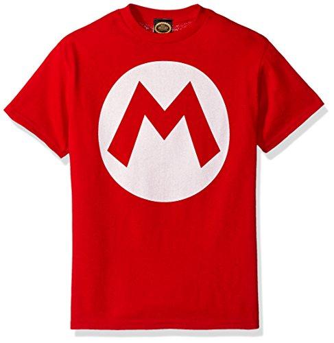 Nintendo Little Boys Mario Icon Graphic T-Shirt, Red, YXS