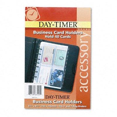 DTM87225 - DAYTIMER'S INC. Business Card Holders for Looseleaf Planners