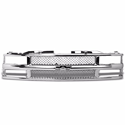 Silver ABS Bumper Mesh Replacement Front Grille For Chevy 94-00 C/K Series/ 94 Blazer/ 88 R20/ 89 R2500/R30/ 88 V30 (For Models with Composite Headlights Only)