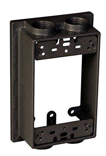 TayMac SE450Z Weatherproof Box Extension, 1-Gang, (4) 1/2-Inch Outlets, Bronze ()