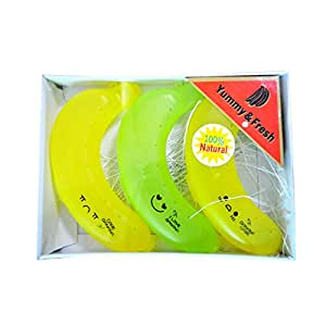 zlmbaguk Banana Saver Keeper Banana Guard 3 unidades con una caja de papel, Green and Yelow, Onesize