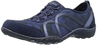 Skechers Sport Women's Breathe Easy Fortune Fashion Sneaker,Navy Mesh/Suede,10 M US (B01B5DXXE0) | Amazon price tracker / tracking, Amazon price history charts, Amazon price watches, Amazon price drop alerts