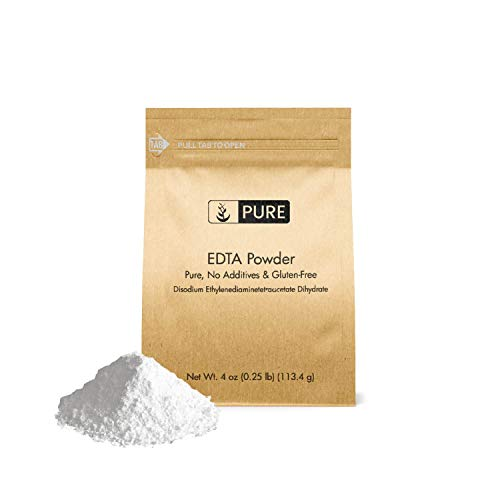 EDTA Disodium Powder (4 oz.) by Pure Organic Ingredients, Food & USP Pharmaceutical Grade (Also Available in 1 lb & 50 lb)