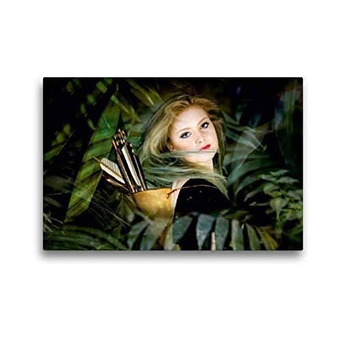CALVENDO Toile Textile de qualité supérieure de 45 cm x 30 cm - pour Toutes Les Filles d'Amazonie.