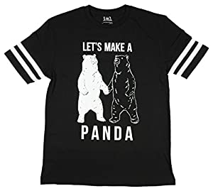 Let's Make A Panda Black & White Bears Graphic T-Shirt