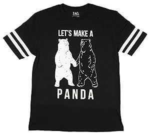 Let's Make A Panda Black & White Bears Graphic T-Shirt