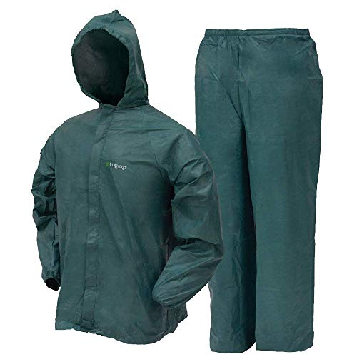 (Frogg Toggs Ultra-Lite2 Waterproof Breathable Rain Suit, Men's, Green, Size)