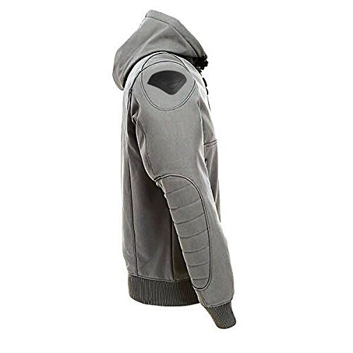 M 38-40 JET Motorcycle Motorbike Protective Jacket Black and Grey Hoody Armoured Soft Shell , Grey