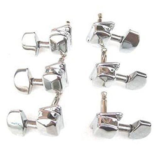 Price comparison product image Vanki Set of 6 Classical Chrome Guitar String Tuning Pegs Tuners Head