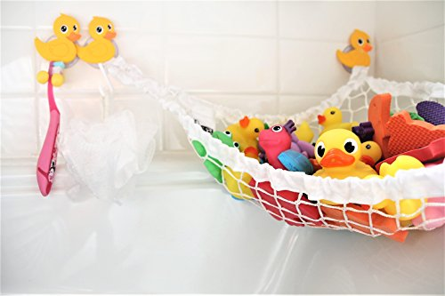 MiniOwls Bathtub Toy Storage Hammock (Yellow Duck)