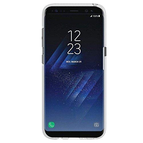 Bepack Case für Samsung Galaxy S8/S8plus, nueva moda suave TPU protector transparente Case für S8/S8plus, antideslizante, arañazos cubierta resistente blanco