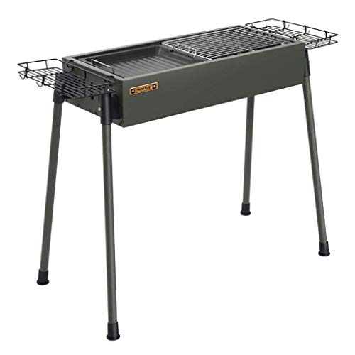 NILINMA Freestanding Barbecue Grills Barbecue Beach Camping BBQ Detachable Barbecue Household Stainless Steel Grill…