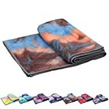 Pefi Yoga Towels, Non Slip Hot Yoga Towel Skidless Waffle Texture, 100% Absorbent Odorless Microfiber, Standard Sized 24 inchx72 inch Mat Towel,for Hot Yoga, Bikram, Pilates