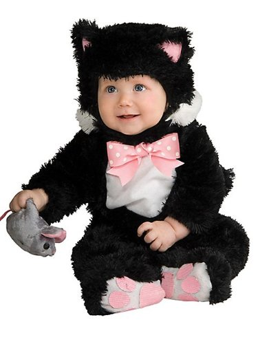 Inky Kitty Costumes Black Baby (Rubie's Inky Black Kitty Noah's Ark - Toddler (12 to 18)