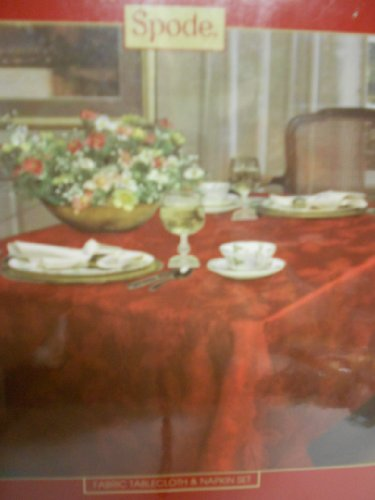 Buy spode tablecloth red
