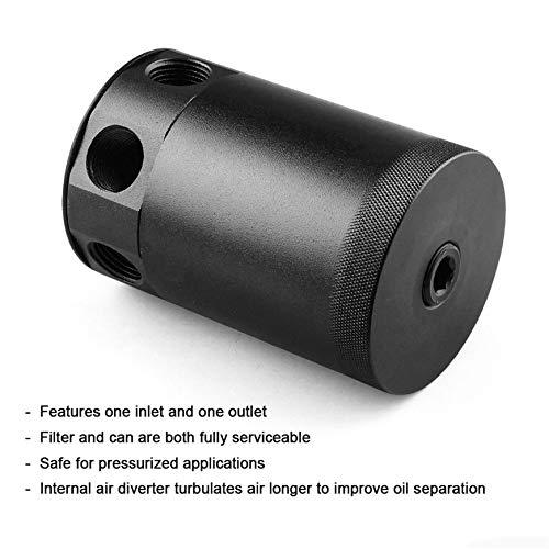 Pudincoco alliage daluminium noir haute performance universel RACING BAFFLED 3-PORT r/éservoirs dhuile r/éservoir pour v/éhicules universels noir