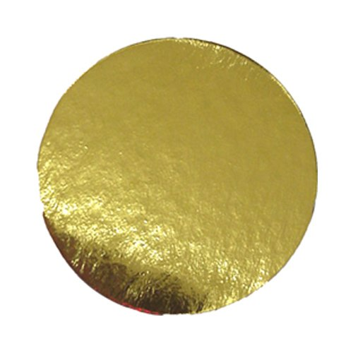 Enjay Round Gold Mono-Portion Pastry Board 5'' (500 Pieces)