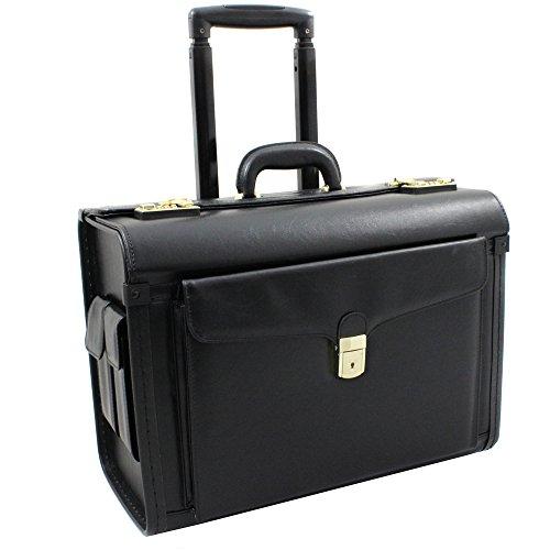 World Traveler Executive Leatherette Rolling Catalog Case, Black
