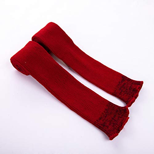 Pervobs Ladies Women Thigh High OVER the KNEE Socks Long Cotton Stockings Warm Leggings Sheer(Wine Red) by Pervobs Sock&Sockings (Image #4)