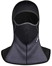 FELOVE Balaclava Windproof Ski Face Mask Cold Weather Face Mask Motorcycle Neck Warmer or Tactical B (7169Schwarz)
