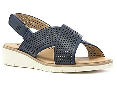 Ladies 4 Keller Dr 8 Over Sandals Faux Touch Back Toe Low Peep Close Flat Navy Sling Leather Wedge Comfort Shoes Cross Size prrxqCHwn