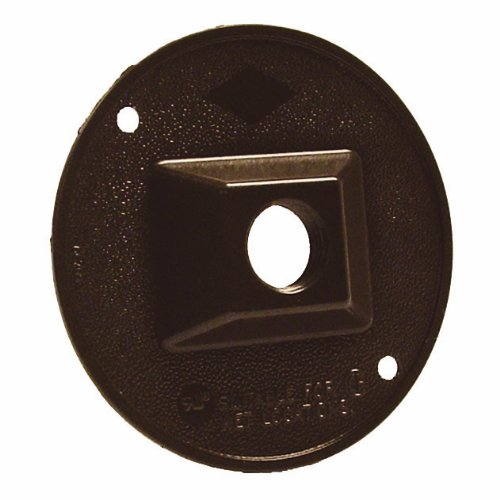 Hubbell-Bell 5193-2 4-Inch Round Cluster Weatherproof Cover, Bronze