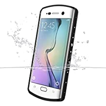 Galaxy S6 Edge Plus Case, iThrough? 6.6ft S6 Edge Plus waterproof Underwater Stand Case, Dust Proof, Shock Proof Case, Heavy Duty Protective Cover for Samsung Galaxy S6 Plus Edge, 5.7 Inches (Pink) (White)